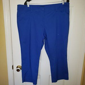 Dress Capri Trouser Pants - Royal Blue - Plus Size